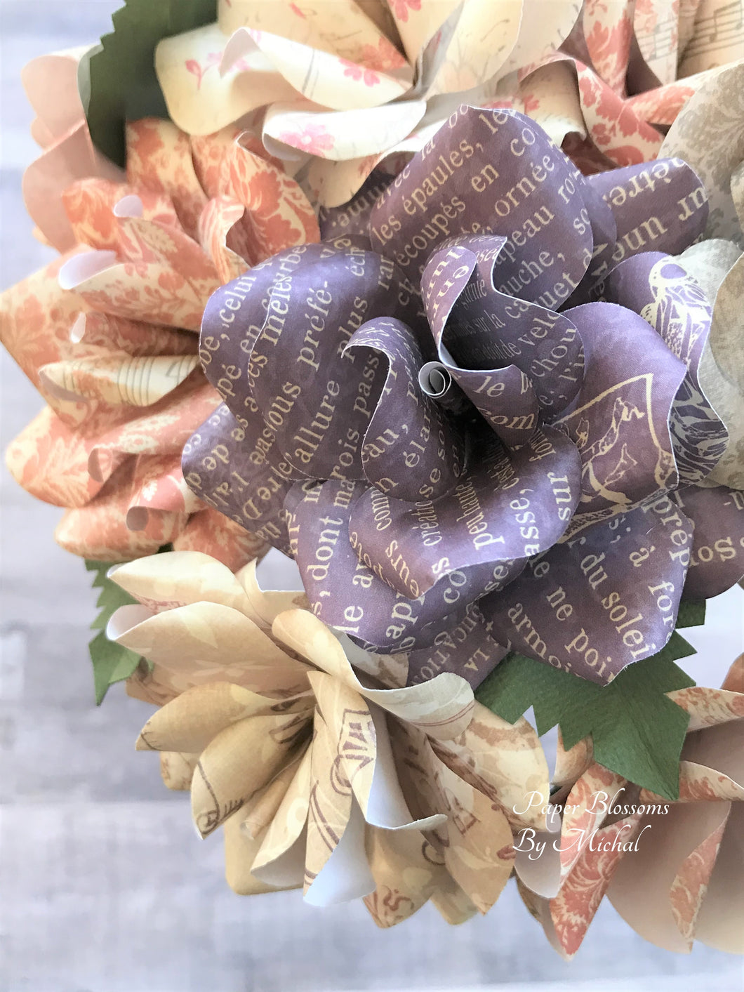Farmhouse Shabby Chic Paper Flower Bouquet