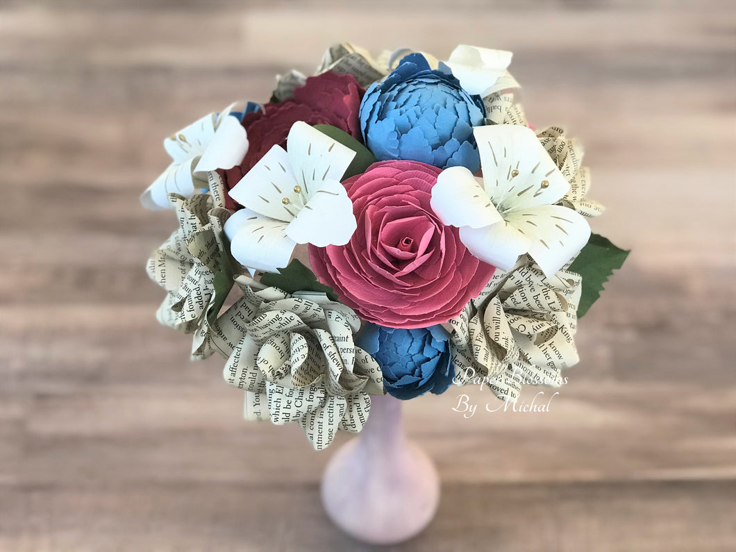 Pride and Prejudice Book Page Bouquet
