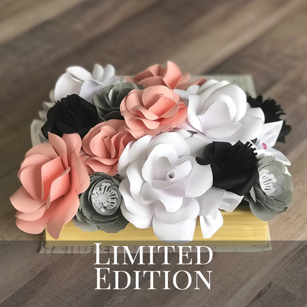 Paper Flower Coffee Table Centerpiece