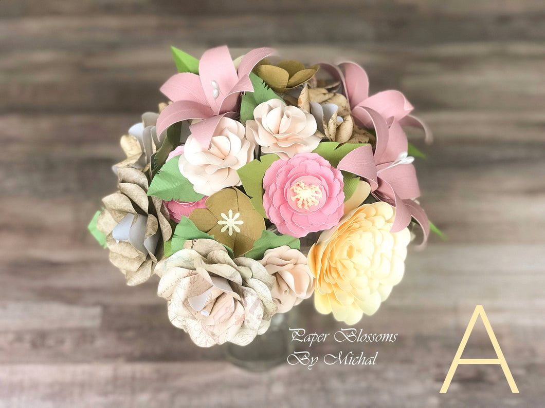 Shabby Chic Paper Flower Bouquet