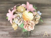 Load image into Gallery viewer, Shabby Chic Paper Flower Bouquet