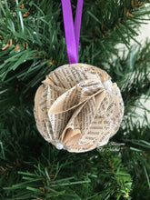 Load image into Gallery viewer, Pride and Prejudice Book Page Paper Christmas Ornament