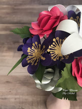 Load image into Gallery viewer, Mini Paper Flower Bouquet: Pink and Purple Mix