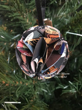 Load image into Gallery viewer, Comic Book Page Paper Christmas Ornament