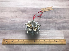 Load image into Gallery viewer, Shakespeare Book Page Christmas Ornament: Kusudama