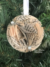 Load image into Gallery viewer, Pride and Prejudice Book Page Christmas Ornament