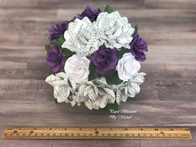 Load image into Gallery viewer, Dream Encyclopedia Book Page Paper Flower Bouquet