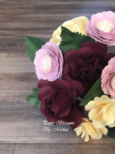 Load image into Gallery viewer, Mauve and Burgundy Paper Flower Bouquet