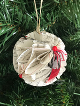 Load image into Gallery viewer, Christmas Tale Book Page Paper Christmas Ornament