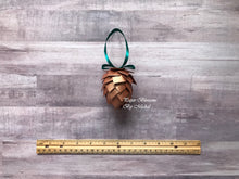 Load image into Gallery viewer, Paper Pine Cone Christmas Ornament