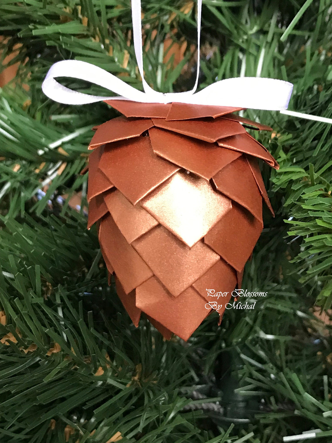 Paper Pine Cone Christmas Ornament