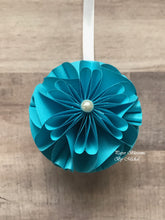 Load image into Gallery viewer, Blue Paper Christmas Ornament