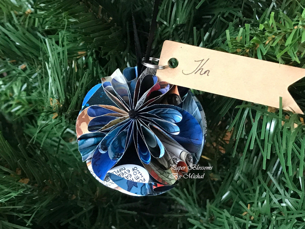 Comic Book Page Paper Christmas Ornament