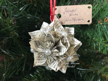 Load image into Gallery viewer, Jane Austen Kusudama Paper Christmas Ornament