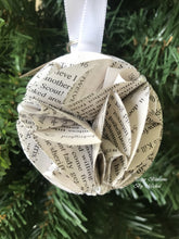 Load image into Gallery viewer, To Kill a Mockingbird Book Page Christmas Ornament