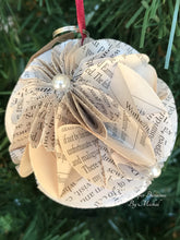 Load image into Gallery viewer, Wuthering Heights Book Page Christmas Ornament