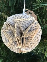 Load image into Gallery viewer, Cosmos Book Page Paper Christmas Ornament
