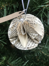 Load image into Gallery viewer, Mere Christianity Book Page Paper Christmas Ornament