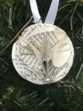 Load image into Gallery viewer, Les Miserables Book Page Paper Christmas Ornament