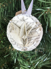 Load image into Gallery viewer, Ender's Game Book Page Christmas Ornament