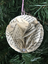 Load image into Gallery viewer, The Notebook Book Page Christmas Ornament