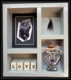 Pet Memorial Shadow Box for 1 Pet - Grey stain