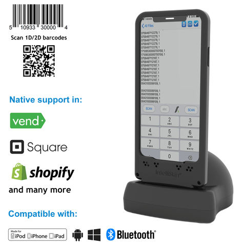 DuraSled™ DS860, Universal Barcode Scanning Sled and Passport, OCR, Travel ID, Dot Code Reader