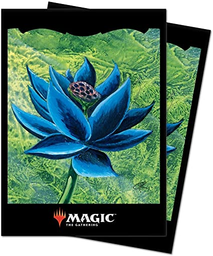 Matte Black Lotus Sleeves (100) - Ultra Pro Sleeves