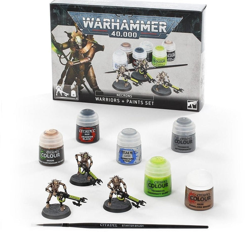 Starter Set - Necrons Accessories and Paint