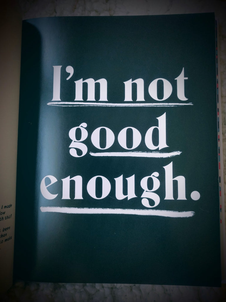 """A page of a book that reads """"I'm Not Good Enough"""""""