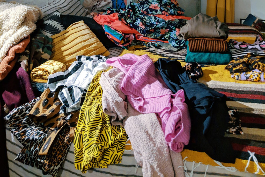 Pile of clothing on the floor