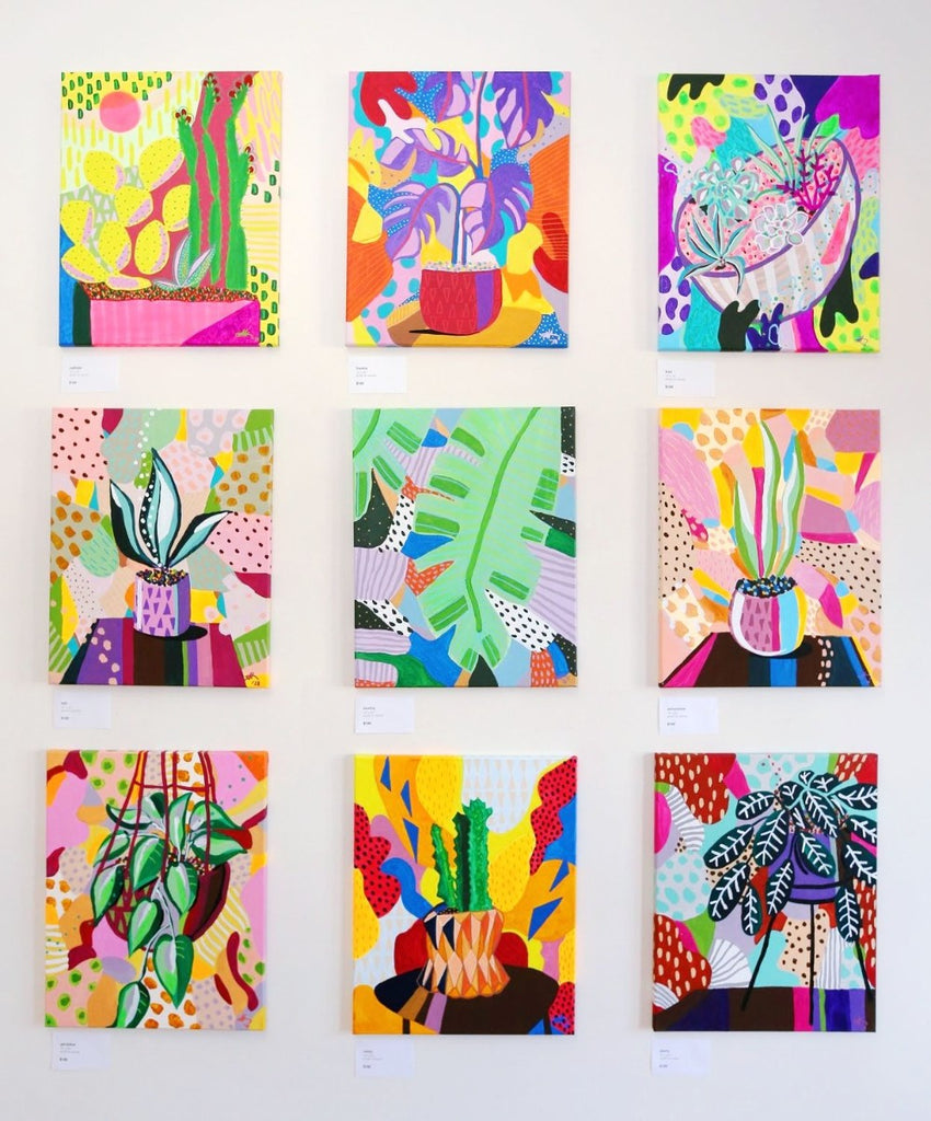 9 Plant paintings