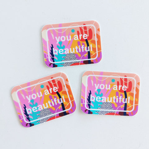 you are beautiful stickers