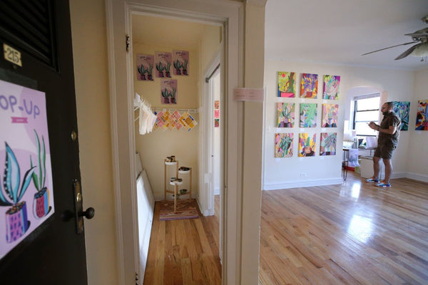 A view of the empty apartment gallery