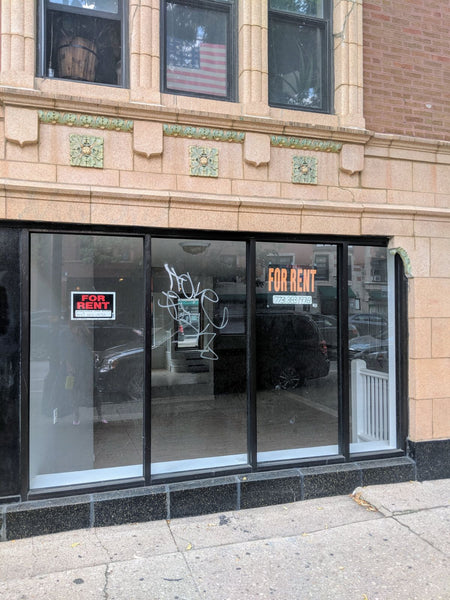 Storefront, before it was rented by me