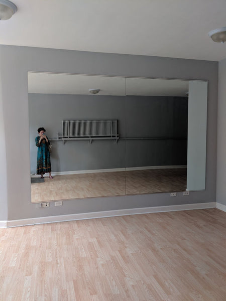 Looking at the empty, main room of the store