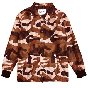 Brown Camo Coach's Jacket