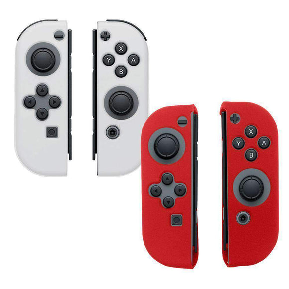AMZER Silicone Skin Jelly Case Combo for Nintendo Switch (Pack of 2) -