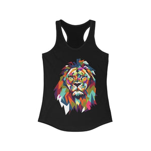 eBay Colorful Lion Graphic Racerback Tank Top