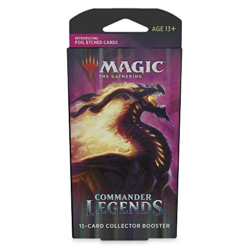 Magic: The Gathering Commander Legends Collector Booster Pack | 15 Cards | 5 Legends Per Pack | 13 Foils | Min. 2 Extended-Art Cards