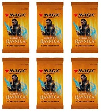Magic The Gathering MTG Guilds Of Ravnica - 6 Booster Packs