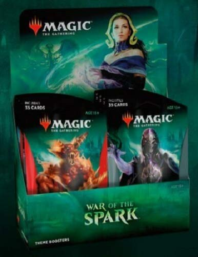 MTG Magic The Gathering War of The Spark Theme Booster Box: 10 Jumbo Packs