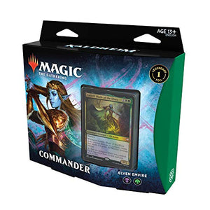 Magic The Gathering Kaldheim Commander Deck – Elven Empire | 100 Card Ready-to-Play Deck | Green-Black