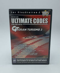 Ultimate Codes - GT Gran Turismo 3 - Sony Playstation 2 PS2 (This is Not a Game)