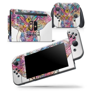 Bright Watercolor Ethnic Elephant - Skin Wrap Decal for Nintendo