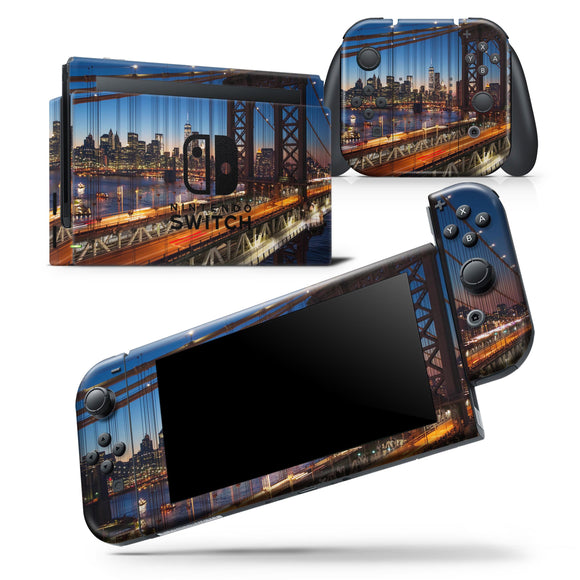 Brooklyn Glimpse - Skin Wrap Decal for Nintendo Switch Lite Console &