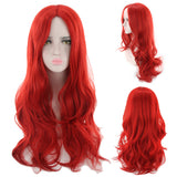 Cheap Halloween Costume Long Wavy Wig Red Blonde