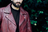 Fillmore - Men's Leather Motorcycle Jacket (Oxblood)