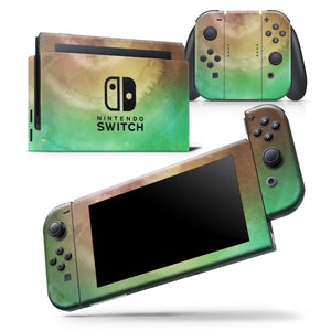 Green 8643 Absorbed Watercolor Texture - Skin Wrap Decal for Nintendo