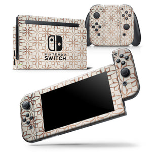 Grunge Tangerine Flower Tiles - Skin Wrap Decal for Nintendo Switch